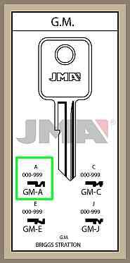 GM A lisäavain koodilla