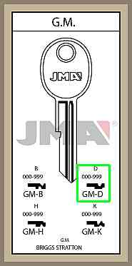 GM D lisäavain koodilla