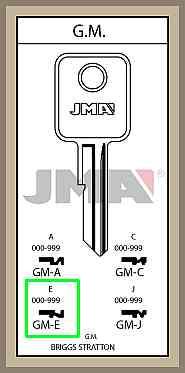 GM E lisäavain koodilla