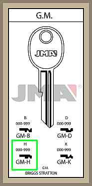 GM H lisäavain koodilla