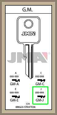 GM J lisäavain koodilla