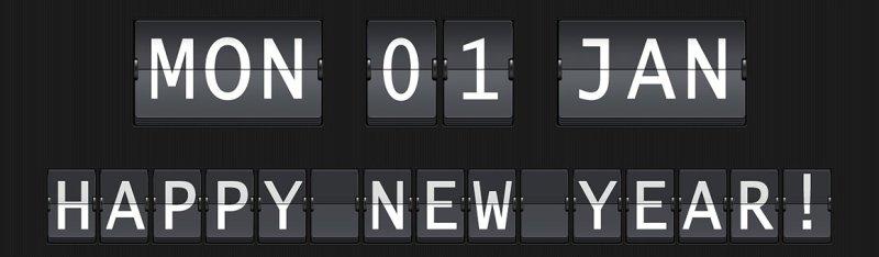New Year's wellness calendar