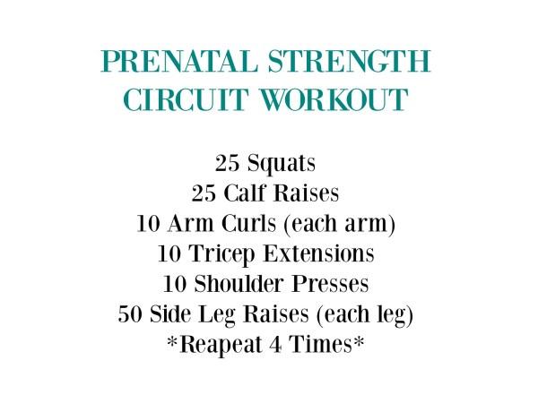 Prenatal Circuit Workout