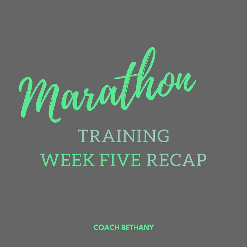 marathon training WEEK FIVE