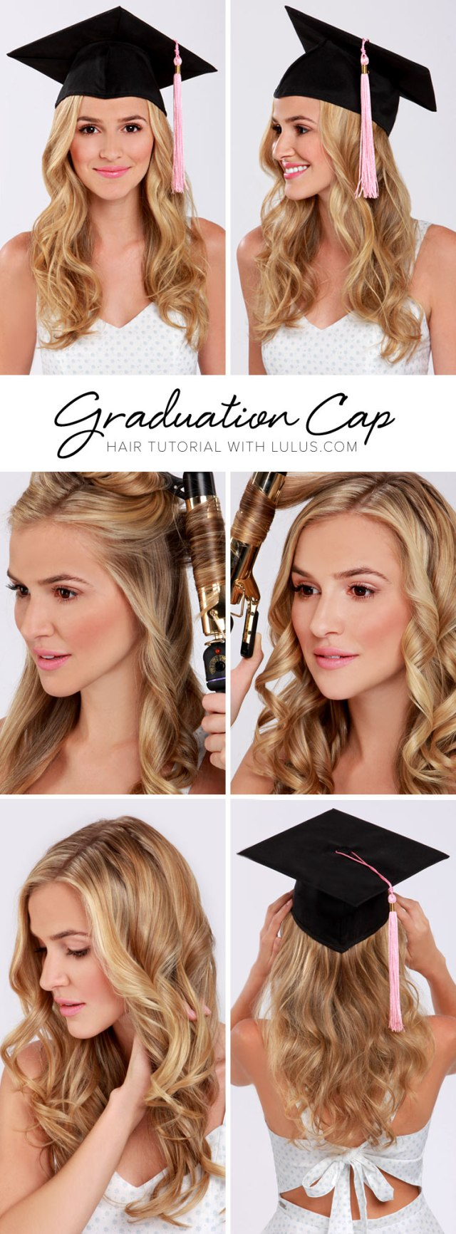 lulus how-to: graduation cap hair tutorial - lulus