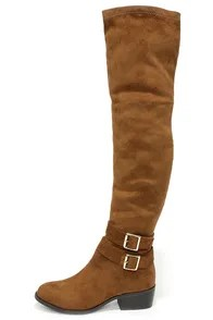 Ancient Cities Tan Suede Over the Knee Boots