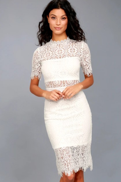 Remarkable White Lace Dress
