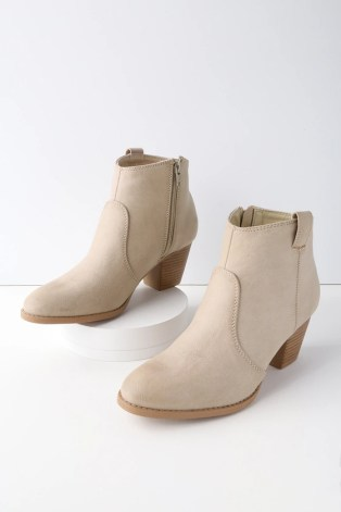 Jemina Beige Ankle Booties 2