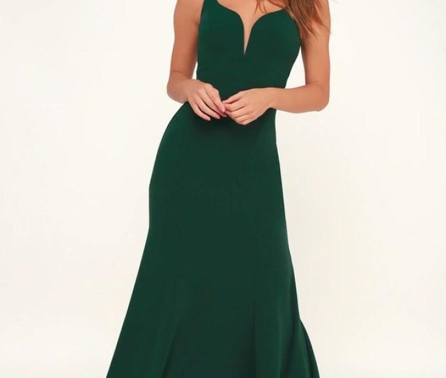 Aperitif Emerald Green Sleeveless Maxi Dress