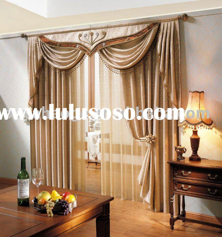 Living Room Curtains With Attached Valance
