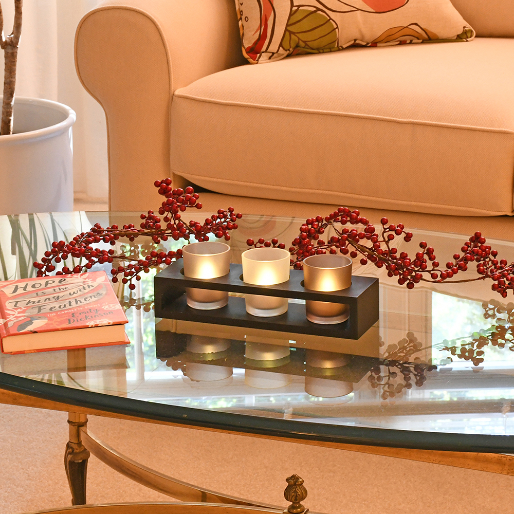 tray glass coffee table decorating ideas