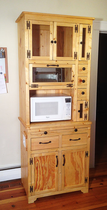 rustic microwave stand by