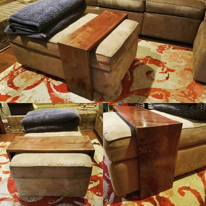 waterfall ottoman table by