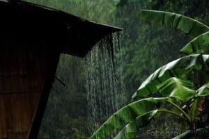 Hujan Jatuh Amat Deras