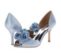 pantofi eleganti cu funda albatru seren culoarea anului 2016 Badgley Mischka Thora