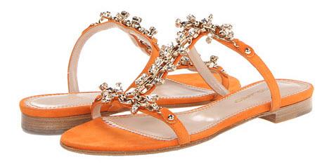 sandale DSQUARED2 Camoscio Flat Sandal