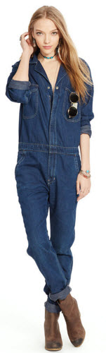 Blugi Ralph Lauren Denim Long-Sleeved Coverall Femei