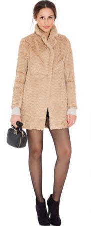 haina de dama din imitatie de blana