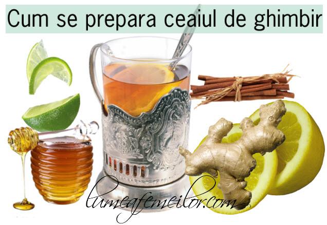 cum se prepara ceaiul de ghimbir