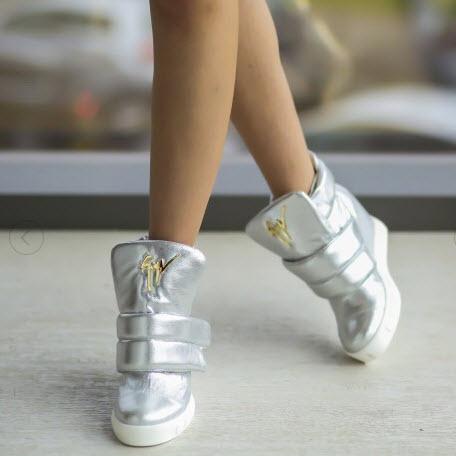 pantofi sport dama argintii model Zanito