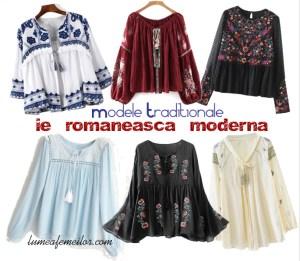 Modele traditionale cu ie romaneasca moderna sau stilizata