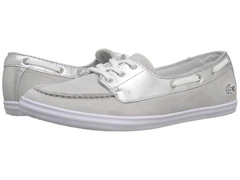 pantofi sport dama gri cu argintiu Lacoste