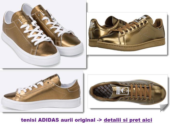 tenisi adidas aurii originali