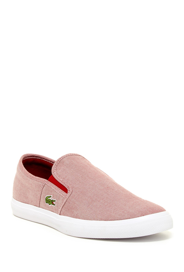 tenisi baieti fara siret rosii Lacoste Gazon Sport Slip-On Sneaker