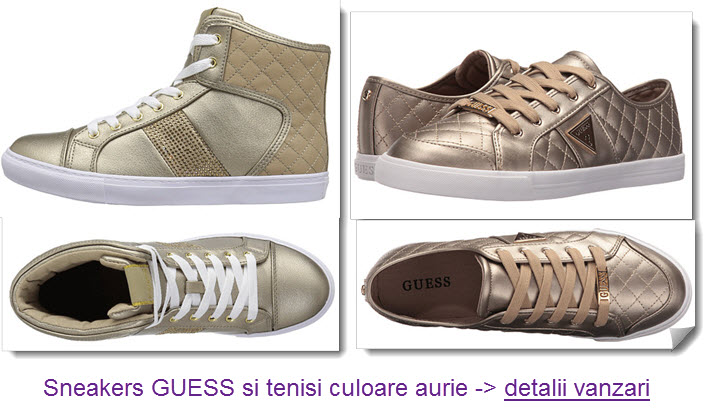 tenisi si sneakers Guess aurii