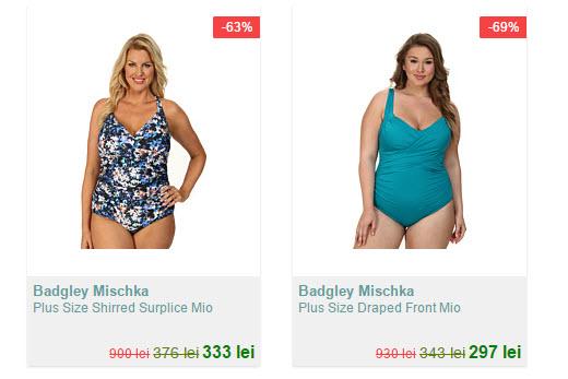 Badgley Mischka Plus Size oferta cu costume de baie intregi