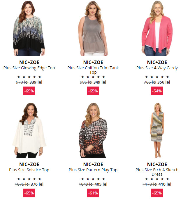 haine masuri mari NIC+ZOE Plus Size