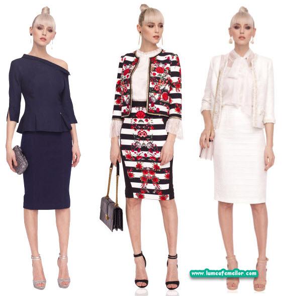 Costume dama cu fusta Nissa - trenduri fashion 2018