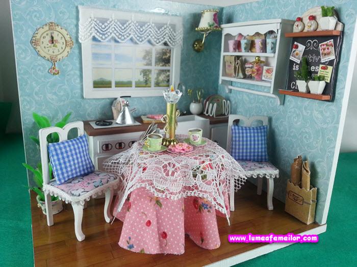 casuta de papusi Happy Kitchen Bucataria Vesela