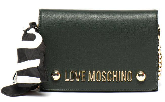 Love Moschino Geanta crossbody de piele ecologica, cu aplicatie logo metalica