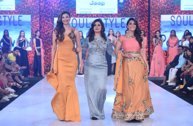 day 3 (L-R) Daisy Shah, Payal Jewani and Pooja Gor at India Beach Fashion Week and Festival 2017