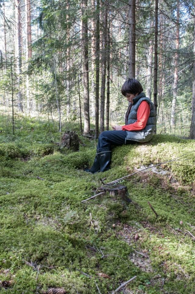 Tomi, Mon neveu autiste - enfant - Photographie - reportage - foret - solitude
