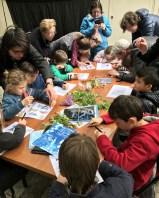 Atelier cyanotype enfant/parent de la Galerie Esther Woerdehoff - Paris