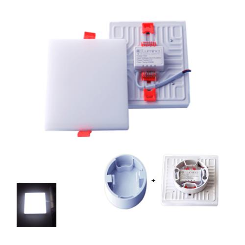 Spot LED Encastrable 3D Réglable 22W Carré Cadre Lumière Blanche (6500K)