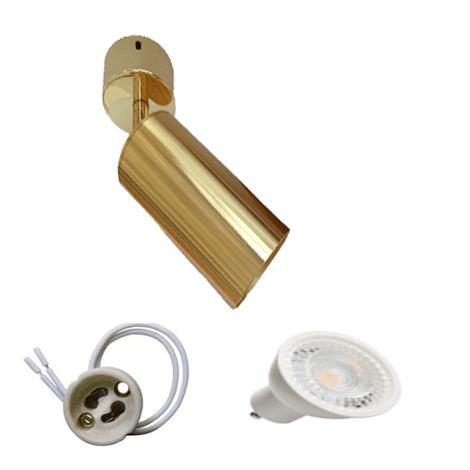 Spot Apparent GU10 Gold Murale ou Plafonnier Lampe LED 5W
