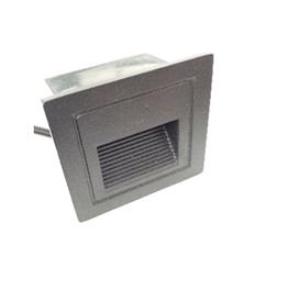 Spot pour être encastré au mur et escalier Carre 85mm LED 3W Lumière Jaune (3000k)