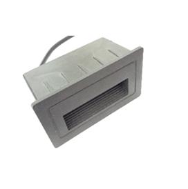 Spot pour être encastré au mur et escalier Rectangulaire 105 58mm LED 3W Lumière Jaune (3000k)