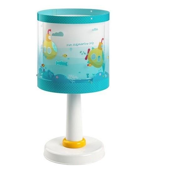 lampe de chevet enfant submarine h30 cm dalber