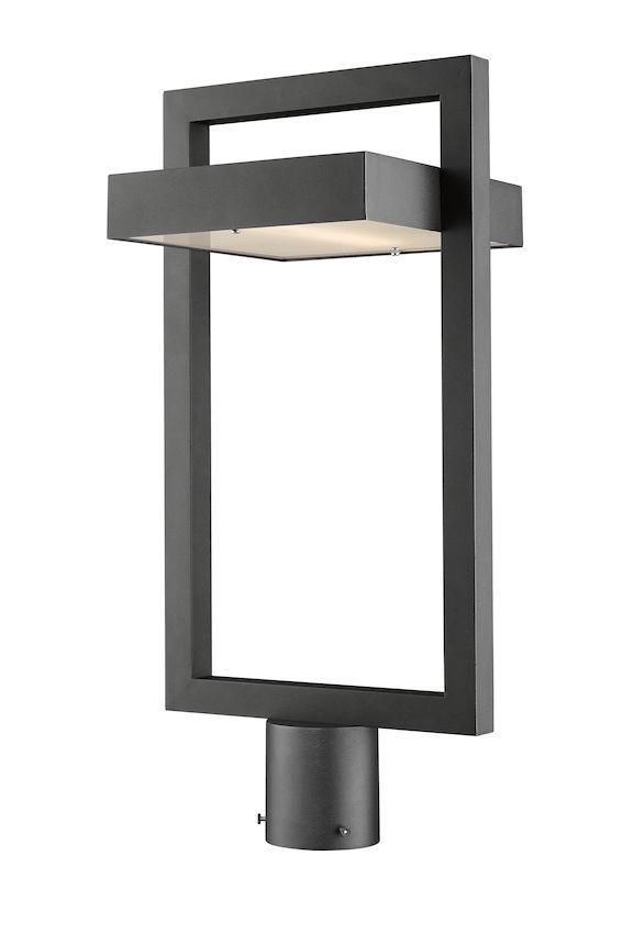 Tête De Poteau Extérieur Z-Lite Luttrel 566PHBR-BK-LED