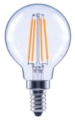 Ampoule De Forme BouleDEL Filament 4.5w E12 Idéal Pour Les Hotels De Longue Durée