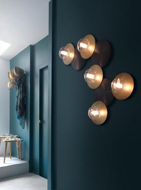 Applique 5 Lampes Design Cvl Dots Laiton Massif Dots B 5L