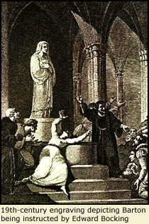 19th-century engraving depicting the Nun of Kent.