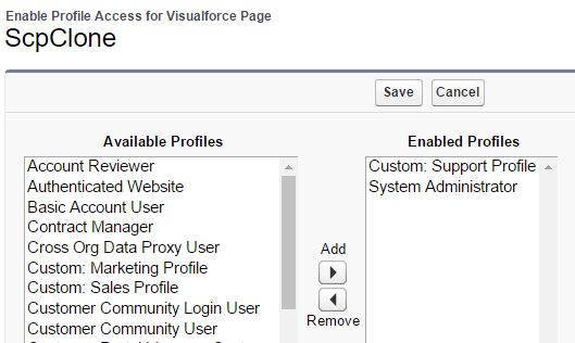 scp-visualforce-permissions-example - LuminosityCRM