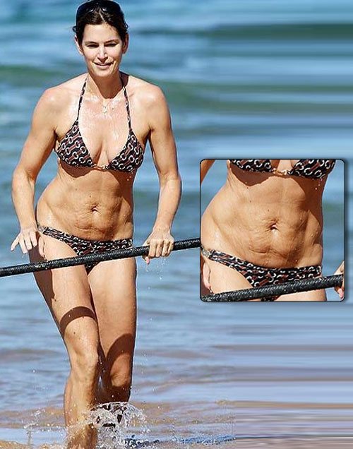 Cindy Crawford with cellulite