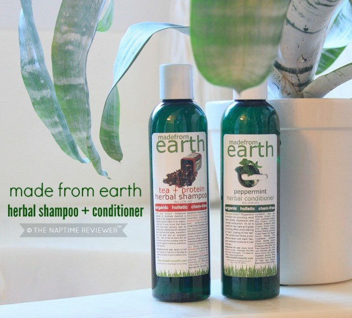 organic tea tree shampoo and peppermint conditioner