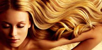 blond with sulfate free hair
